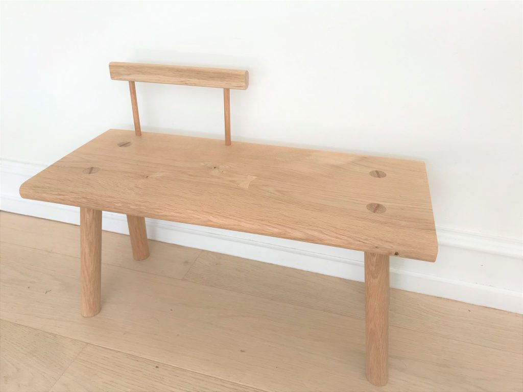 'Kiyomi' toddler bench with backrest 5