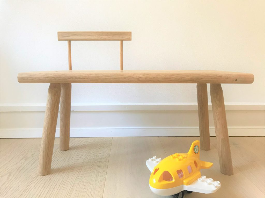 'Kiyomi' toddler bench with backrest 3