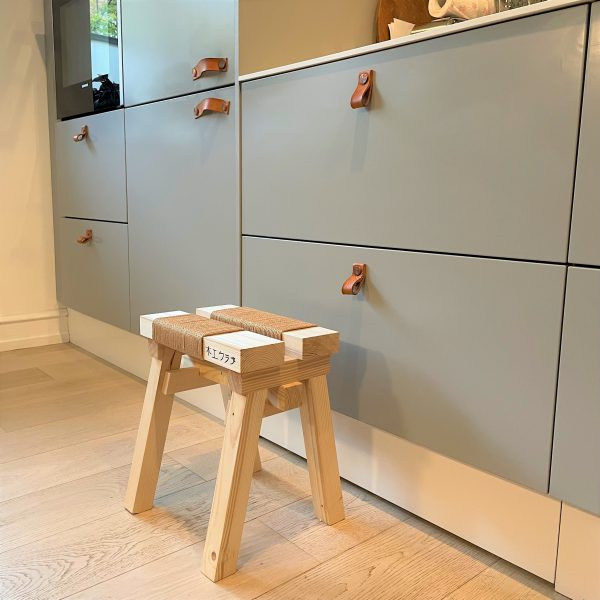 Japandi style stool